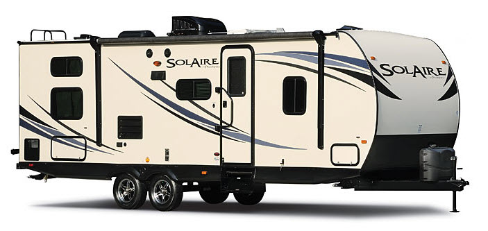 The Palomino SolAire Ultra Lite Travel Trailer Is Lightly Priced And Lightweight But Not Light On Amenities This Can Sleep Up To 11 People