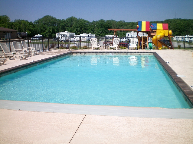 Check out this refreshing pool at Deer RV Park.