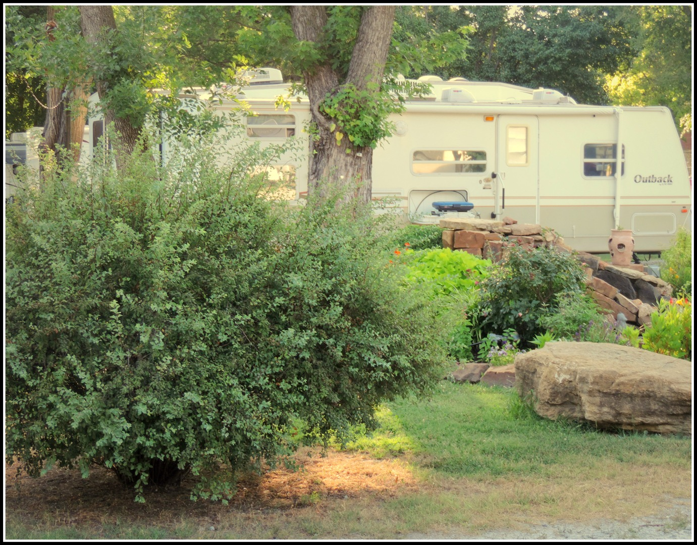 Beautiful setting at the Riverside RV Resort & Campground.